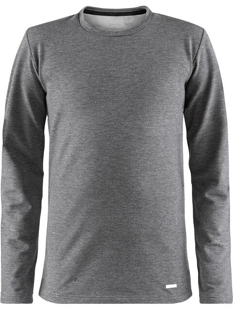 Craft Essential Round-Neck LS Shirt Junior dk grey melange